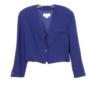 Christian Dior Vintage Blazer Blue Crop Women's 8